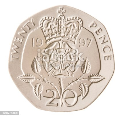 British Twenty Pence Coin Stock Photo More Pictures Of British