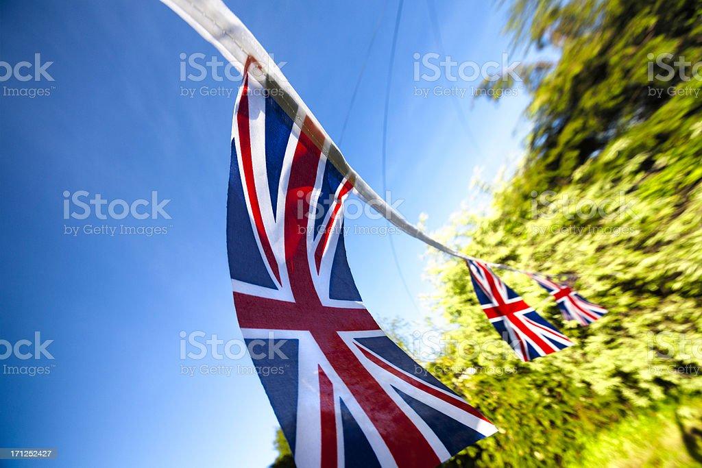 British Union Jack Bunting royalty-free stock photo
