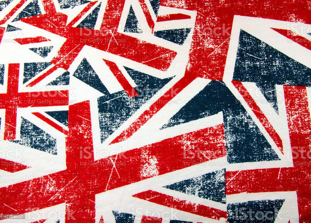 British union jack flag montage stock photo