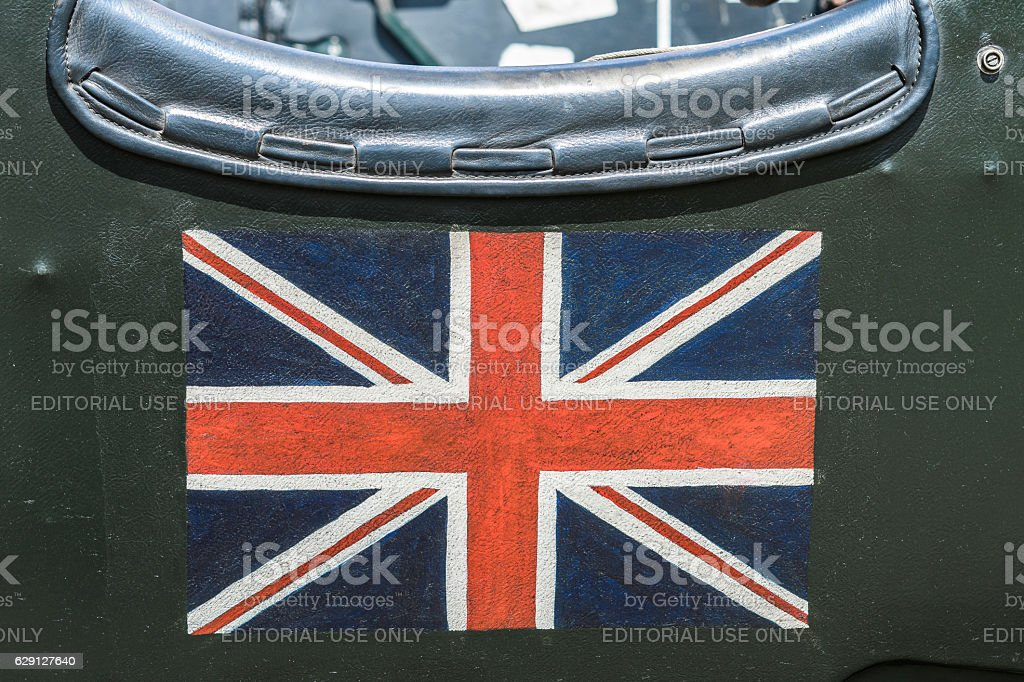 British Union Jack Flag On A Vintage Bentley Classic Car Stock Photo Download Image Now Istock