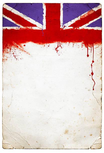 British Union Jack Paper stock photo