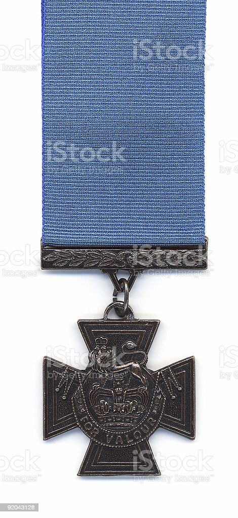 British Victoria Cross - Blue Ribbon stock photo