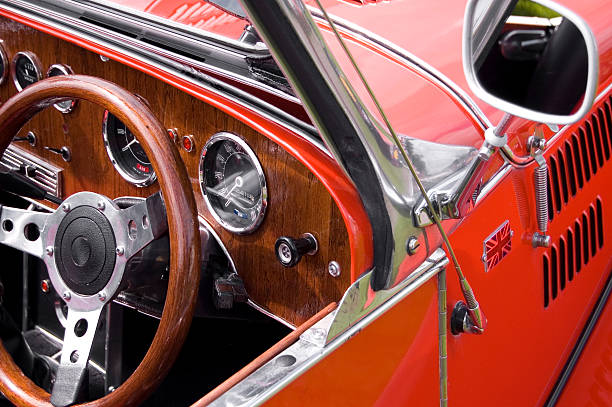 british vintage car - classic cars stock photos and pictures