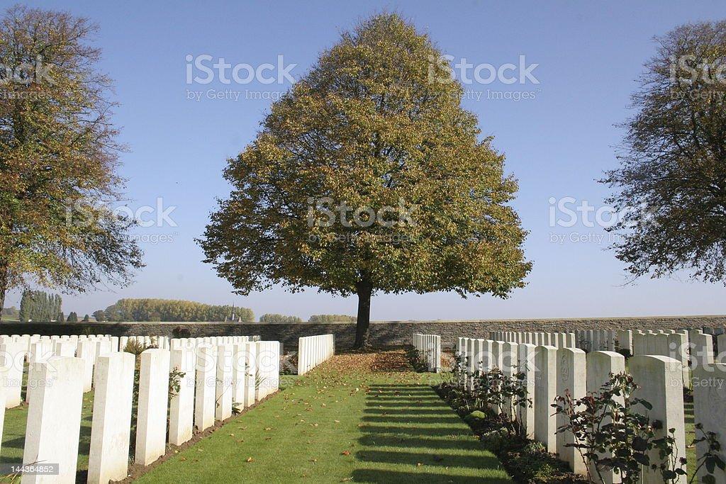 british war grave in France stock photo