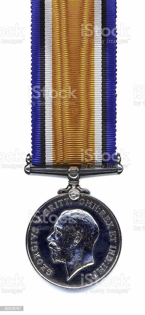 British War Medal, 1914 - 18 (Back) royalty-free stock photo