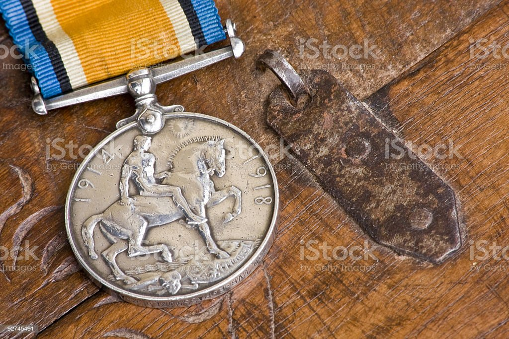 British war medal stock photo