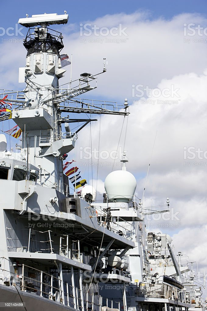 British War Ship royalty-free stock photo