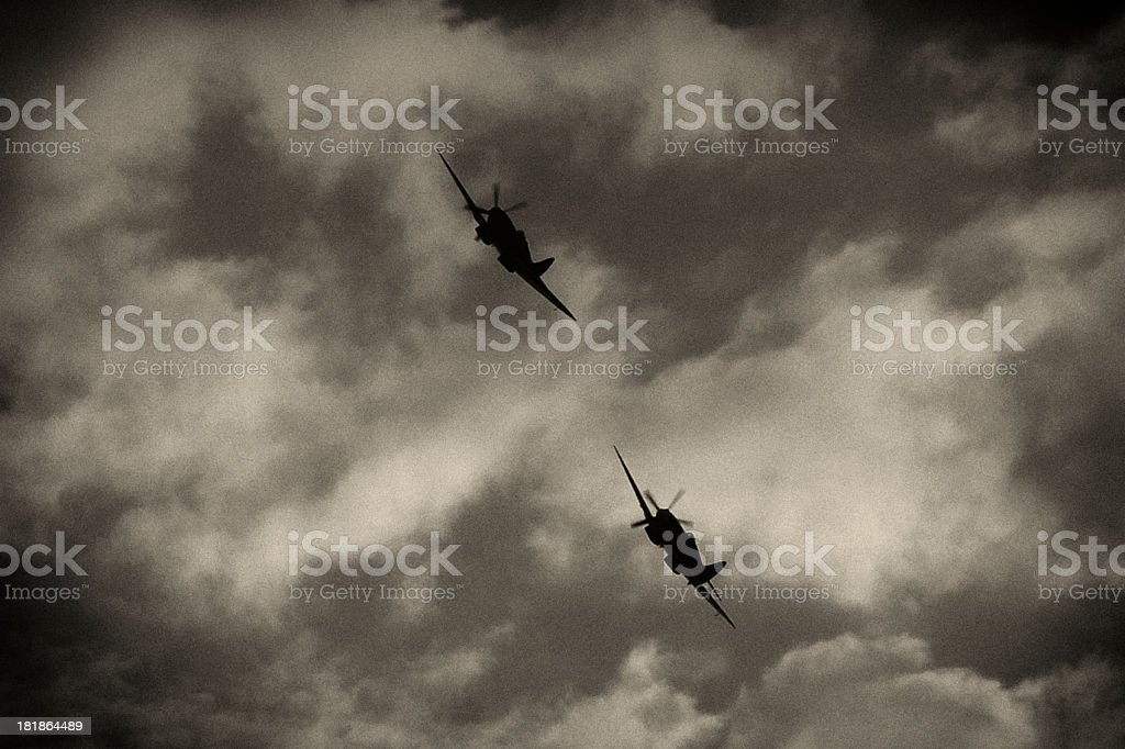 British World War II Spitfires, Battle of Britain aircraft, Dambusters stock photo