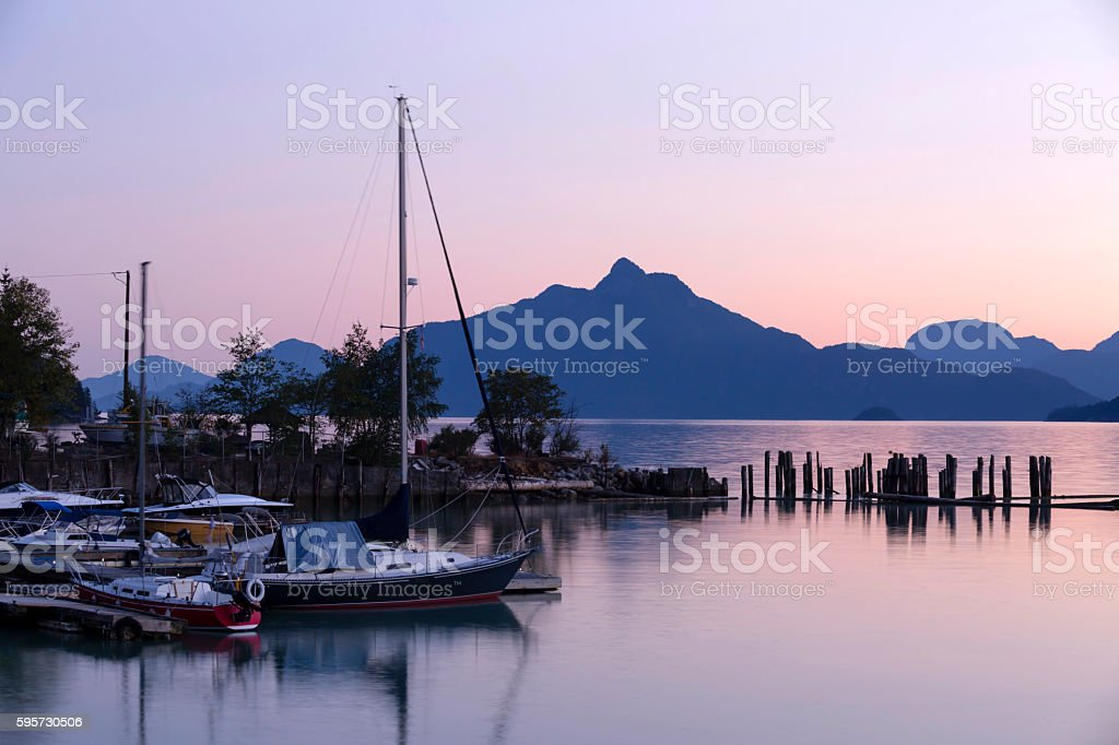 Brittania Beach Howe Sound Squamish British Columbia stock photo