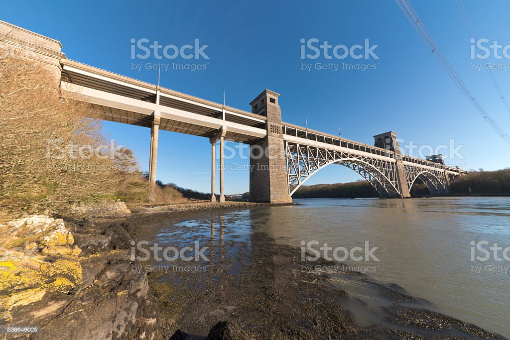 Brittania Bridge stock photo