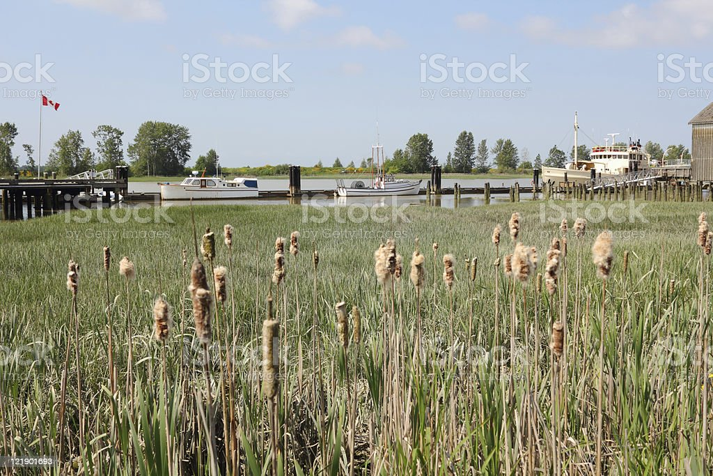 Brittania Heritage Site Docks, Steveston stock photo