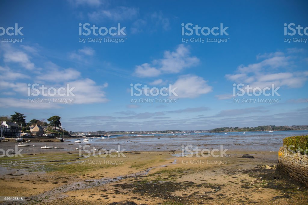 Brittany, Ile aux Moines island stock photo