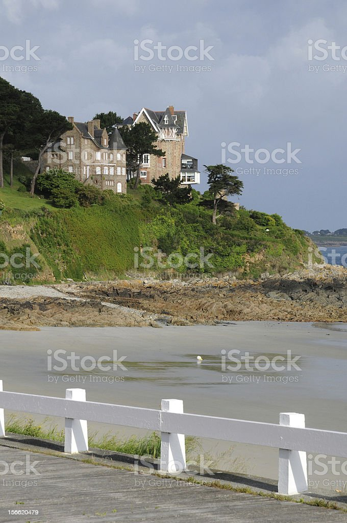 Brittany, the beach of Trestrigniel in Perros Guirec royalty-free stock photo