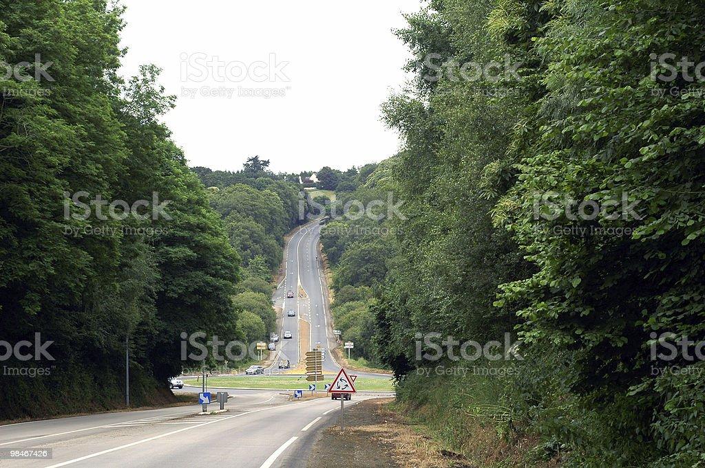 Brittany (Francia)-tipica rotonda foto stock royalty-free