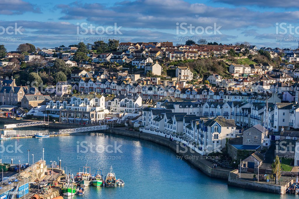 Brixham in South Devon stock photo