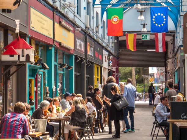 Brixton mercado interior - foto de stock