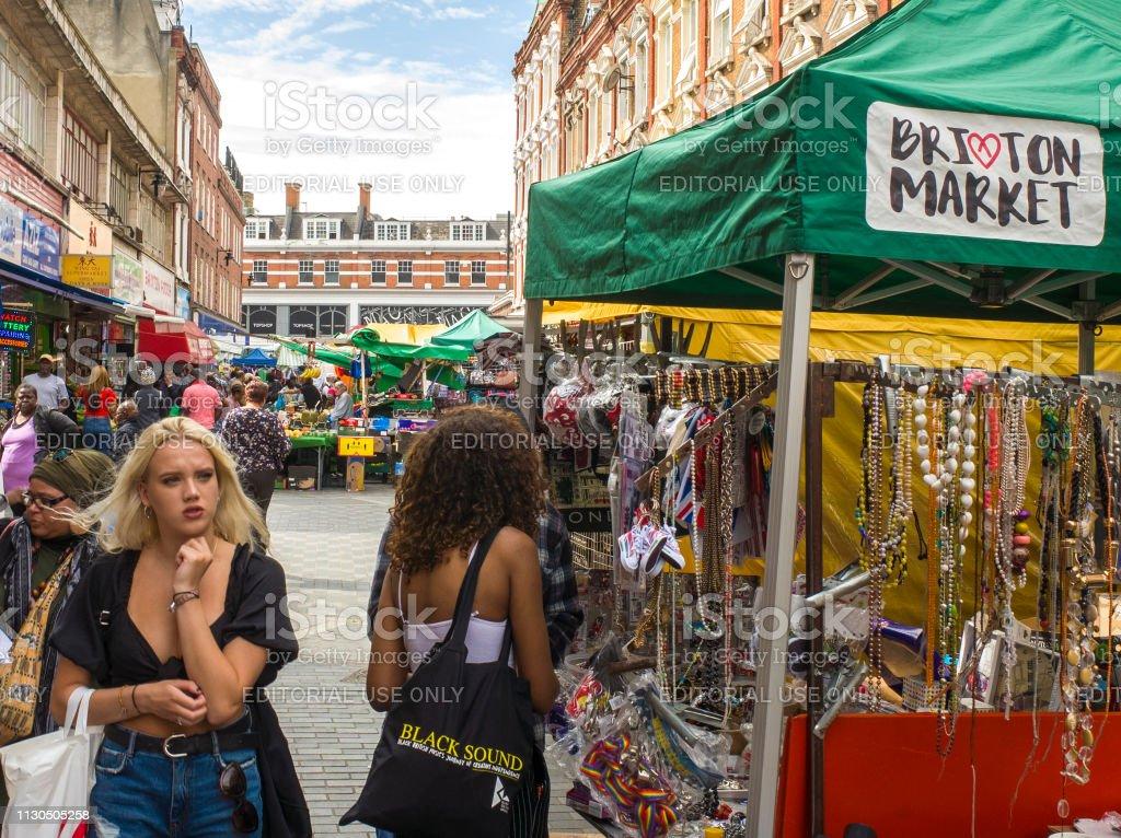 Brixton Market, London stock photo