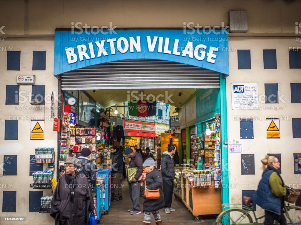 Brixton Village, London stock photo