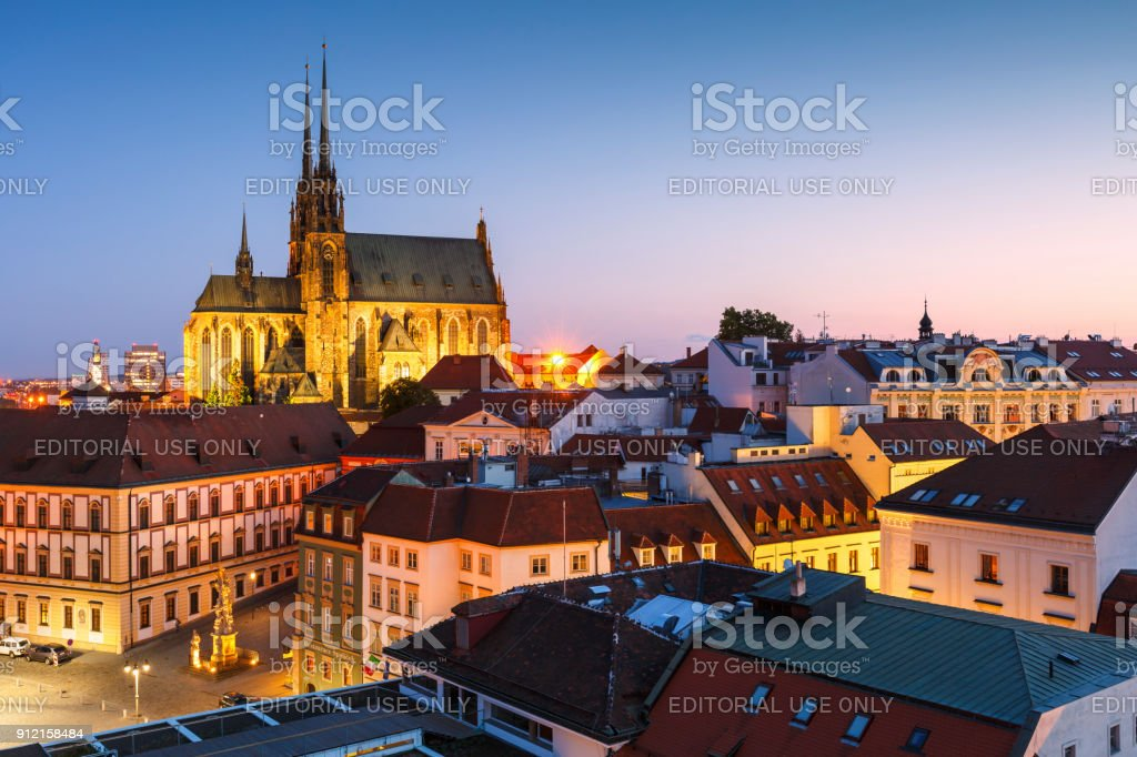 Brno city stock photo