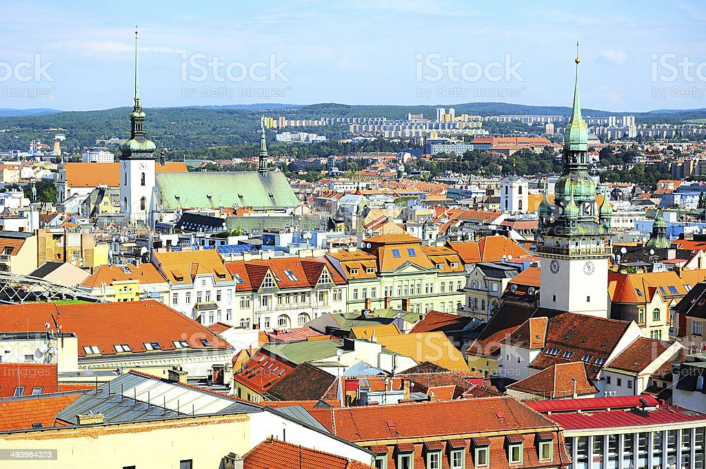 Brno cityscape stock photo
