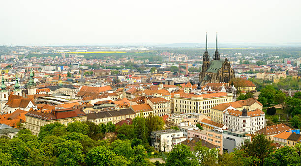 Brno day time old city landscape Brno day time old city landscape from Spilberk Castle brno stock pictures, royalty-free photos & images
