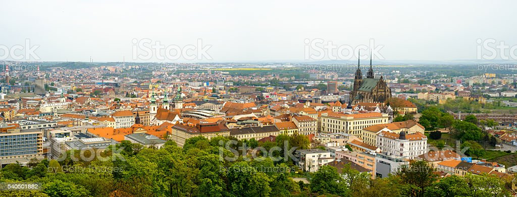 Brno day time old city landscape stock photo
