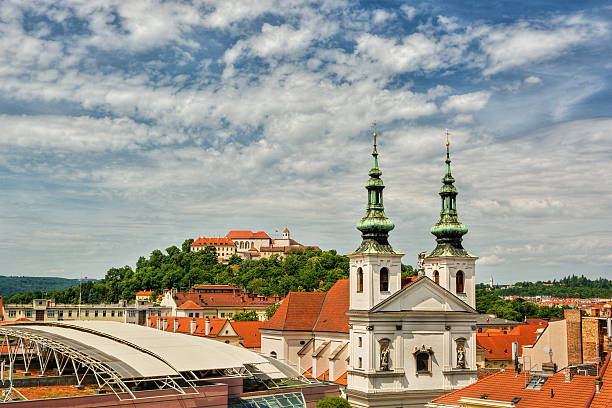 Brno HDR July 2016, castle and cathedral in Brno (Czech Republic), HDR-technique brno stock pictures, royalty-free photos & images