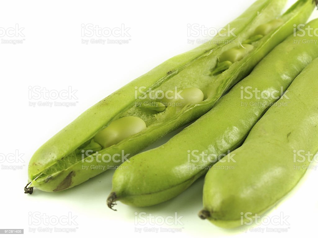 Broad beans royalty-free stock photo