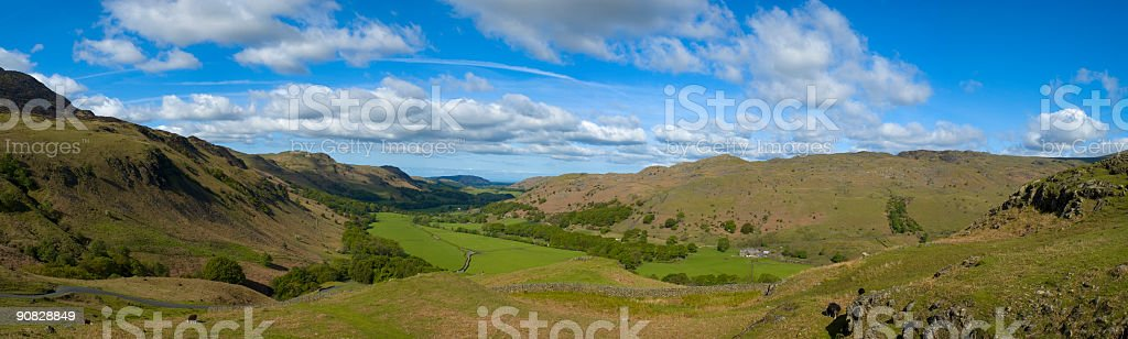 Broad mountain valley royalty-free stock photo