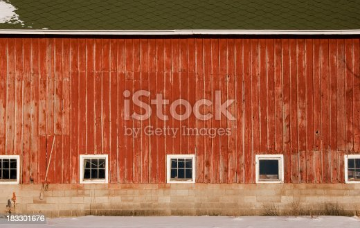 Broad side of an old red barn.See all of my aArtistic and Abstract BackgroundaA images: