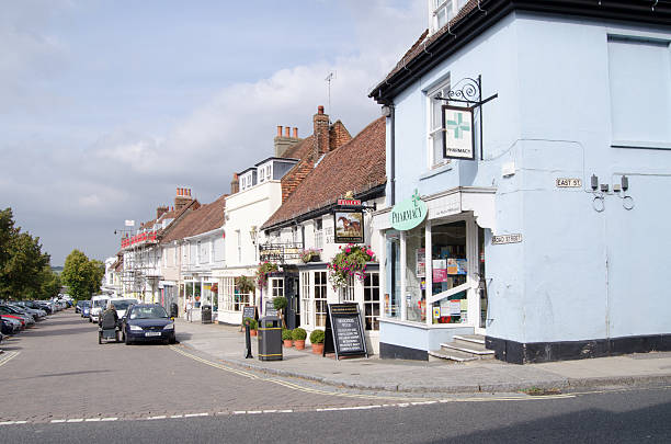 Broad Street, Alresford stock photo