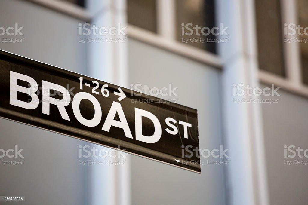 Broad Street Manhattan New York City royalty-free stock photo