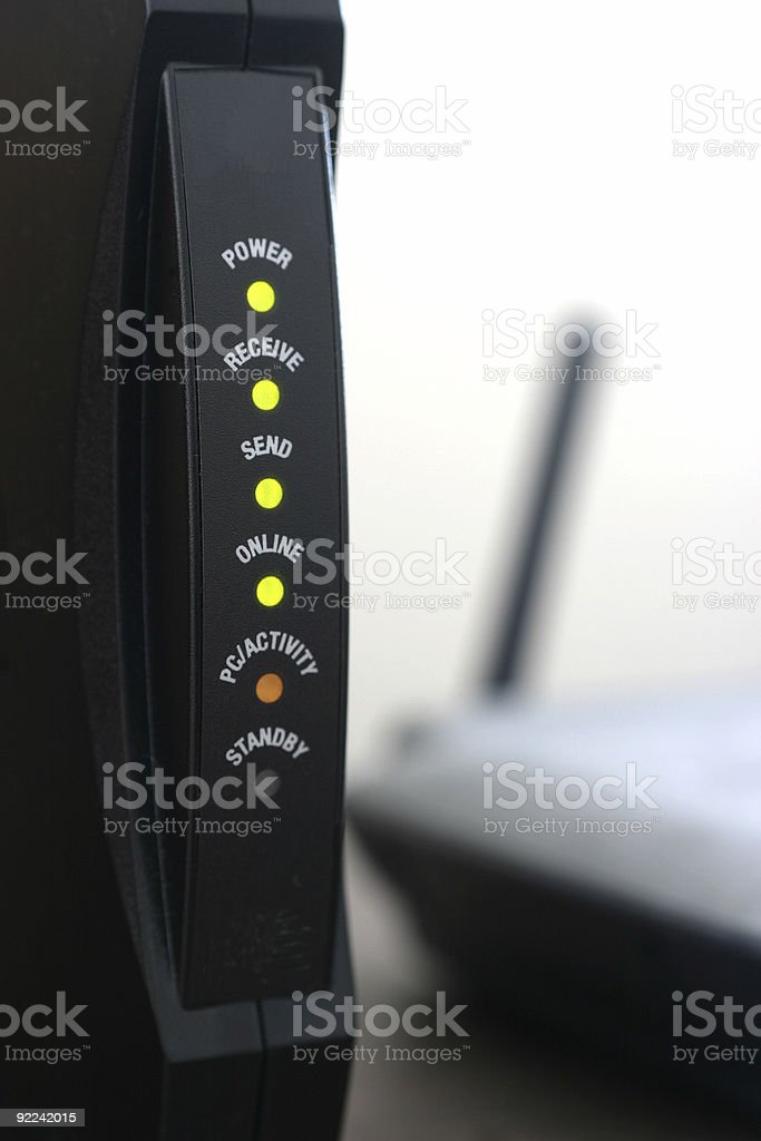 Broadband Connection royalty-free stock photo