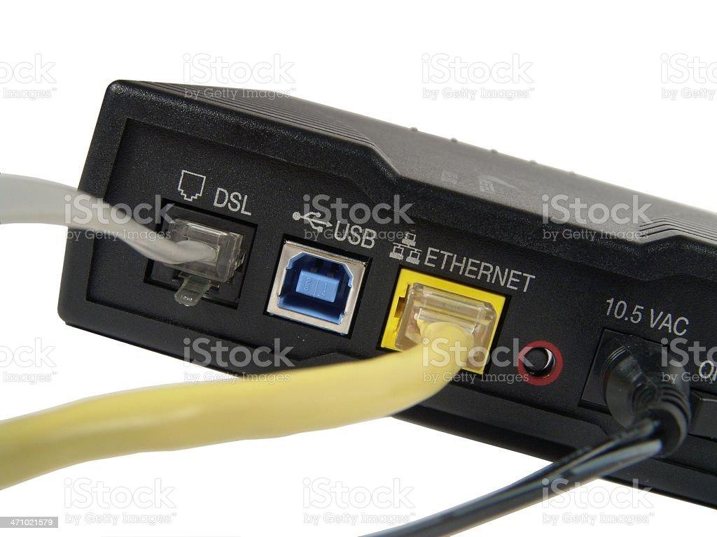Broadband Modem Back royalty-free stock photo