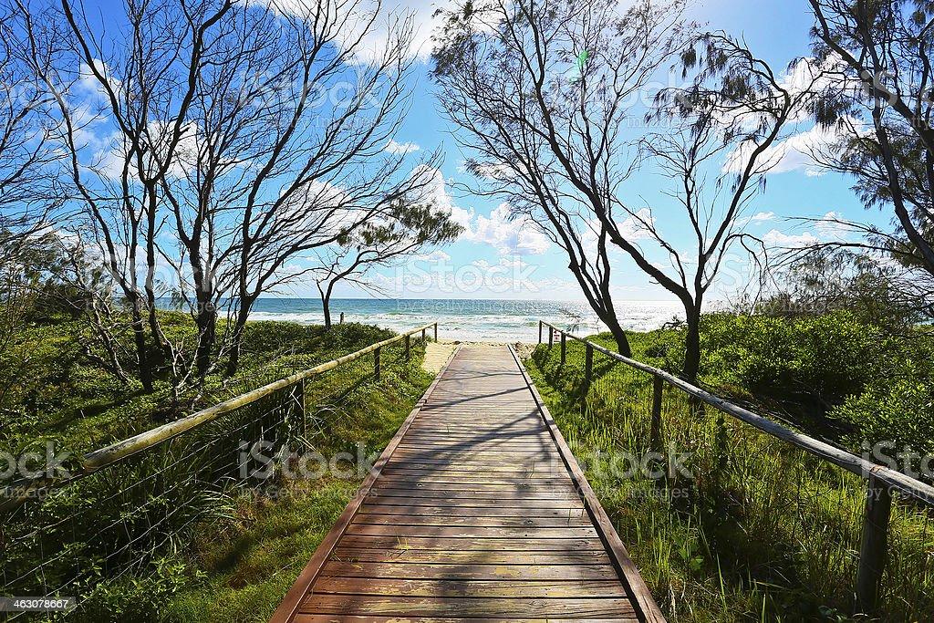 Broadbeach boardwalk beach access stock photo