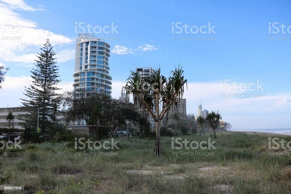 Broadbeach Gold Coast at Pacific Ocean in Queensland, Australia stock photo