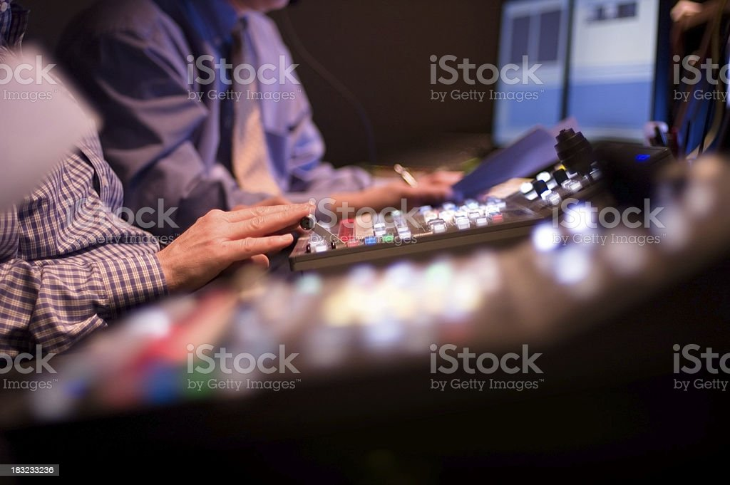 Broadcast Control Studio stock photo