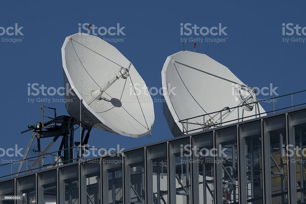 broadcast dishes royalty-free stock photo