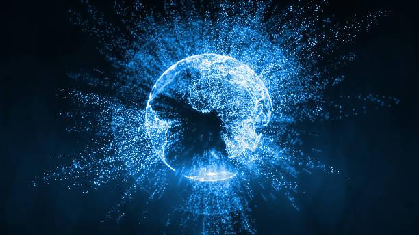 broadcast earth globe - travelling informations - jorden nyheter bildbanksfoton och bilder