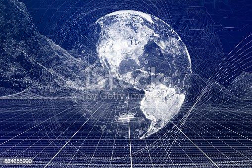 Digital Earth globe.