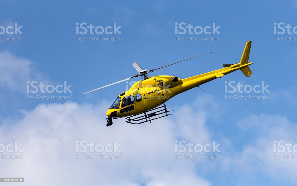 Broadcast Helicopter royalty-free stock photo