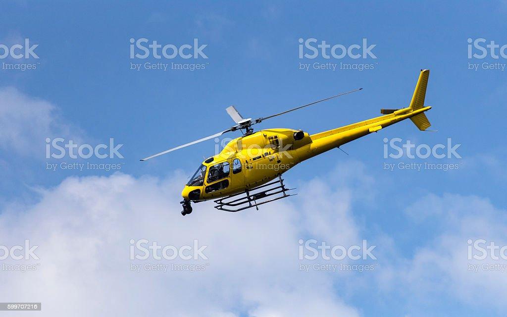 Broadcast Helicopter stok fotoğrafı