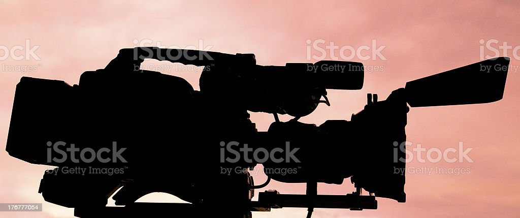 Broadcast High Definition Camcorder HDTV royalty-free stock photo