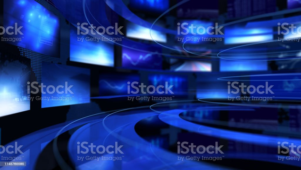 Broadcast Broadcast - 3D Rendering Abstract Stock Photo