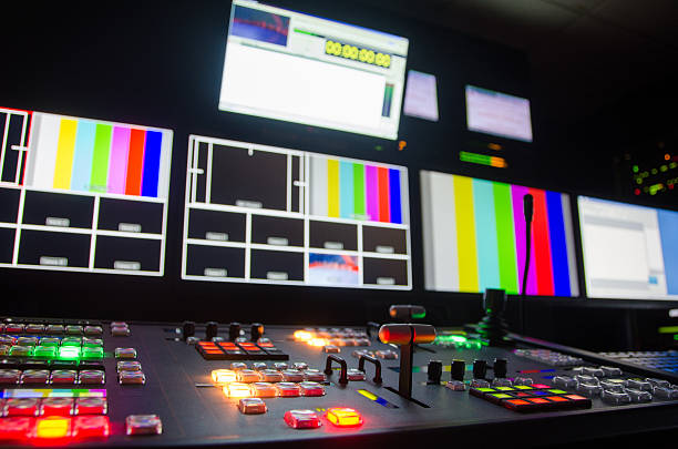 Broadcast television switcher stock photo