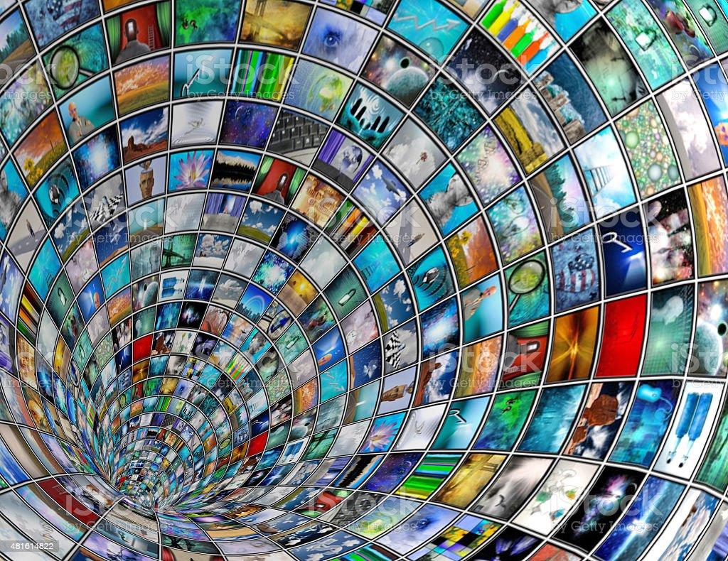 Broadcast Tunnel stock photo