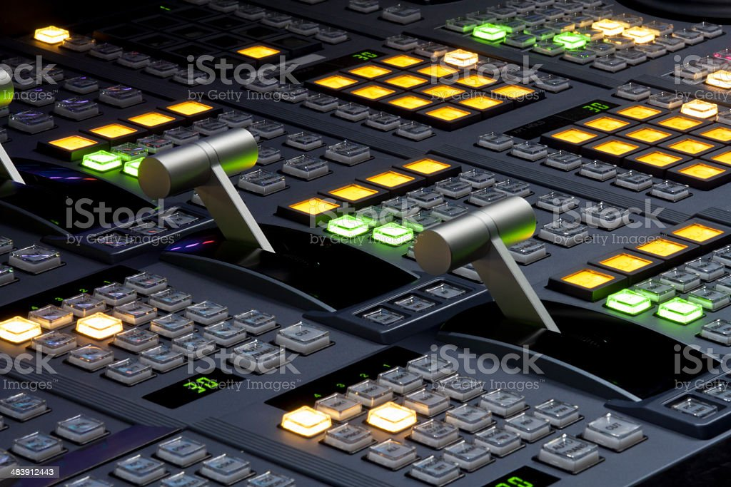 Broadcast video switcher stock photo
