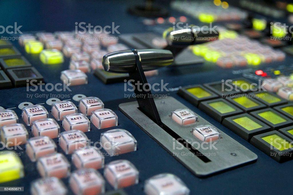 Rundfunk Vision Mischpult - Lizenzfrei Atelier Stock-Foto