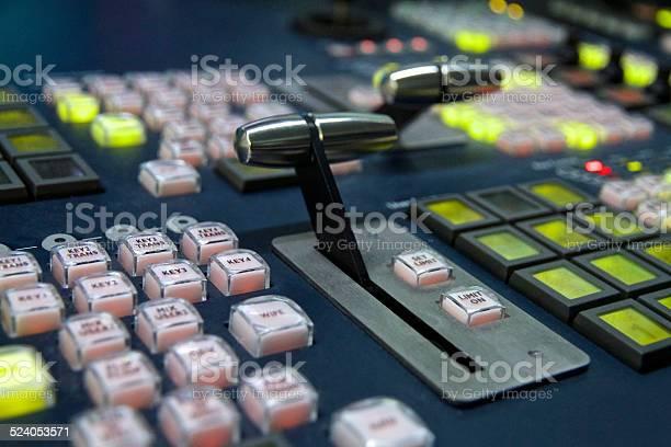 Rundfunk Vision Mischpult Stockfoto und mehr Bilder von Atelier
