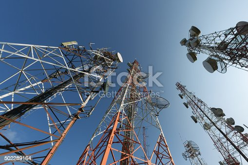 Broadcasting antenna and blue sky